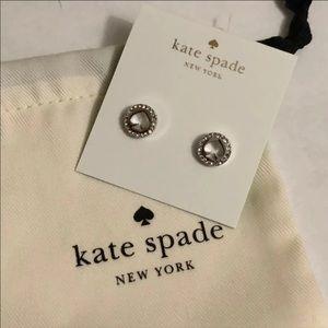 Kate spade signature spade stud earrings
